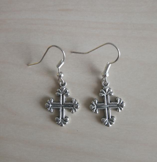 Ohrhänger antikes Kreuz